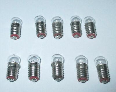 Glühbirne E5.5 3,5V Birnchen für Puppenhaus oder Krippenlampen  5 Stück  NEU