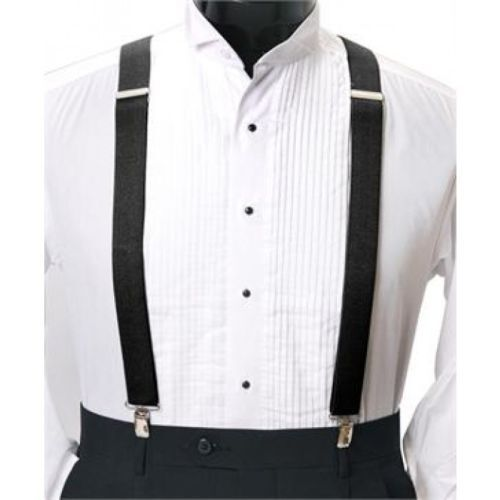 Trouser// Pants Braces Suspender Elasticated Adjustable Clip on Printed /& Plain