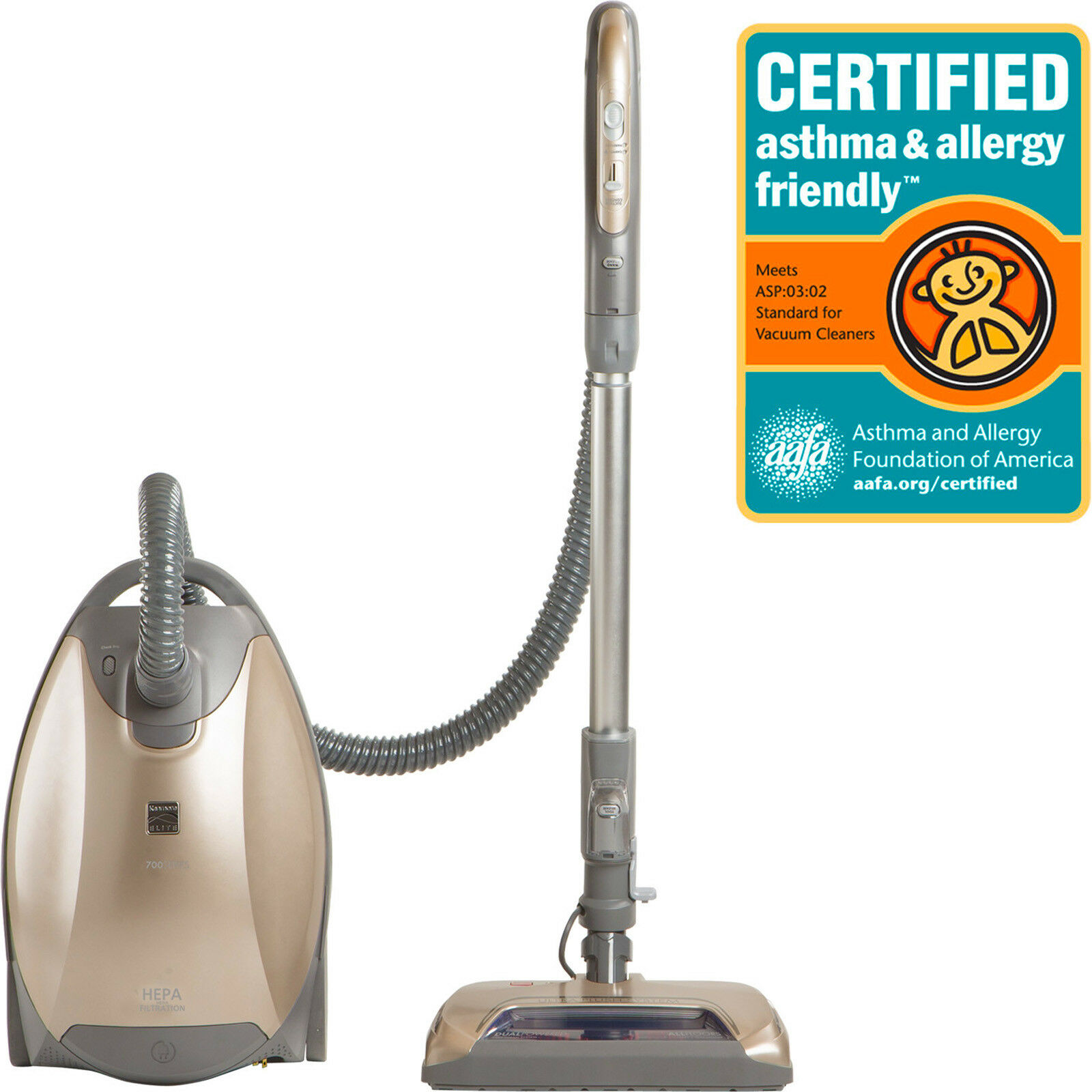 Kenmore Elite 81714 Allergy Friendly Ultra Plush Pet Canister Vacuum - NEW