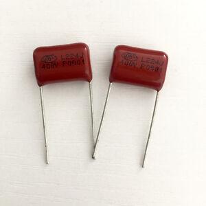 50PCS-CBB21-224J-400V-0-22UF-220NF-P15-Metallized-Film-Capacitor