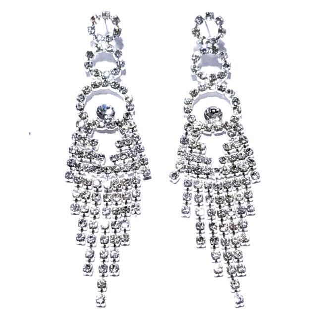 Chandelier Earring Earrings Austrian Crystal Rhinestone Bridal Pageant Prom 3.75