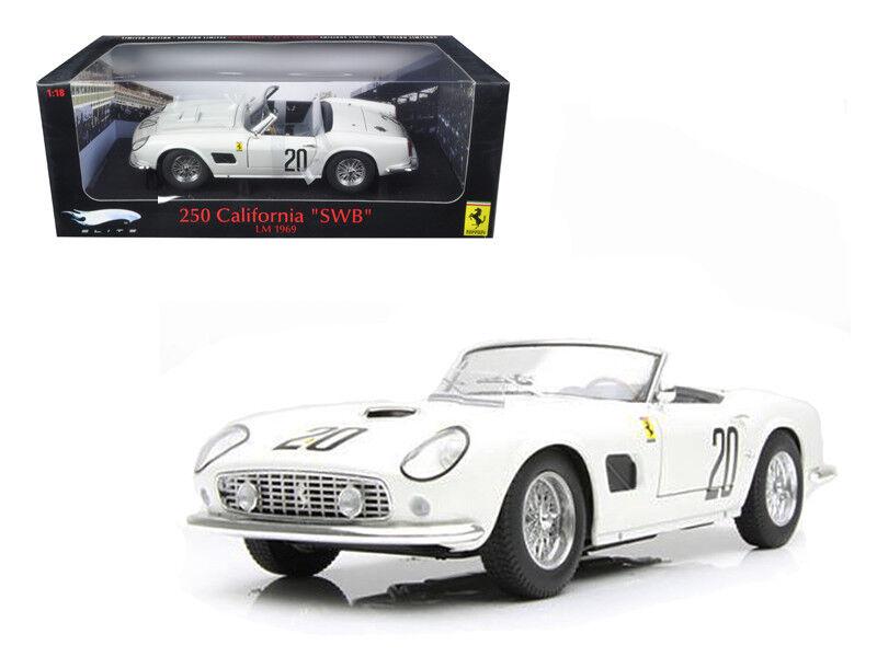 1/18 Hot Wheels Ferrari 250 California SWB LM 1969 Elite Edition Diecast T6931