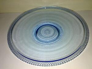 Teller-Plate-BROCKWITZ-TAUPERLE-Hellblau-Art-Deco-40s-Dia-26-cm-LOOK-gt