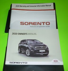 2020 KIA SORENTO OWNERS MANUAL SET GUIDE 20 +case LX S SX EX FWD AWD
