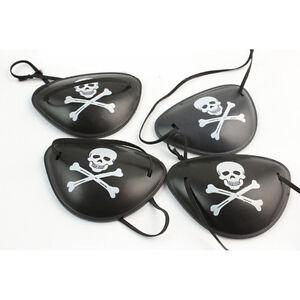 2X-Piraten-Augenklappe-Schaedel-Crossbone-Halloween-Party-Favor-Kostuem-R5