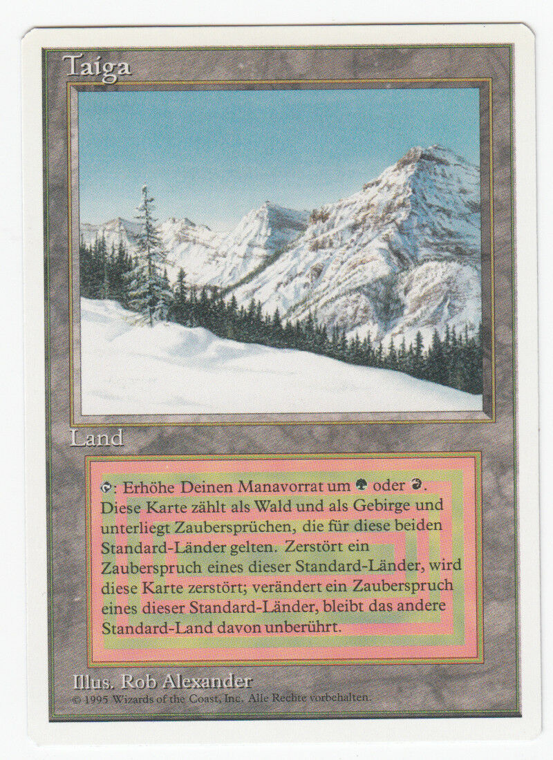 Taiga Magic german Revised Dual Land original Scan 18J070