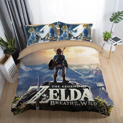 3d The Legend Of Zelda Kids Bedding Set Quilt Cover Comforter Cover Pillowcase Ebay