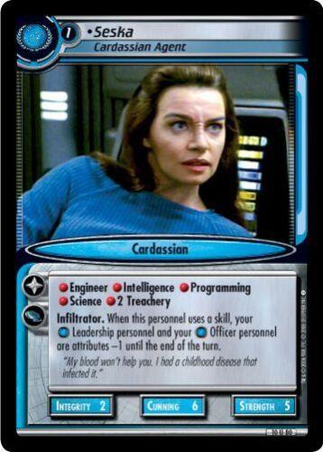 Star Trek CCG 2E Captain/'s Log Seska Cardassian Agent 10U80