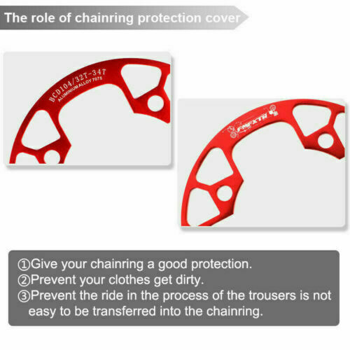 104BCD Narrow Wide Sprocket 32-38T MTB Bike Chainring Round Cycling Chain Guards