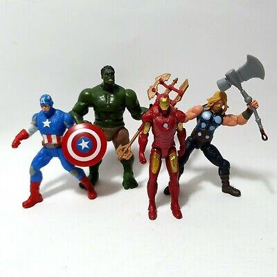 2pcs Marvel The Avengers Thor /& Captain America Action Figurine Figure