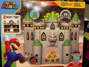 Details About Nintendo Super Mario Deluxe Bowser S Castle Playset W Exclusive Bowser Figure