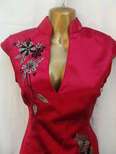 Oriental Chinese Red and Grey FASHION dress size 20