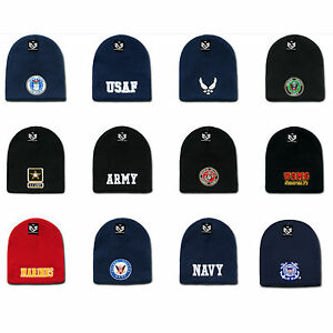 Embroidered Us Military Logo Short Beanie Beanies Knit Caps Cap Hats Hat Winter Ebay