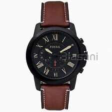 Fossil Original FS5241 Men's Grant Light Brown Leather Watch 44mm Chronograph