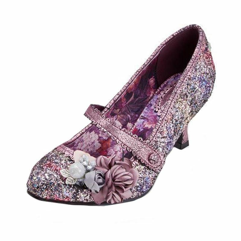 Damenschuhe Joe Brauns MARIETTA Pink/Purple Mid Heels Schuhes
