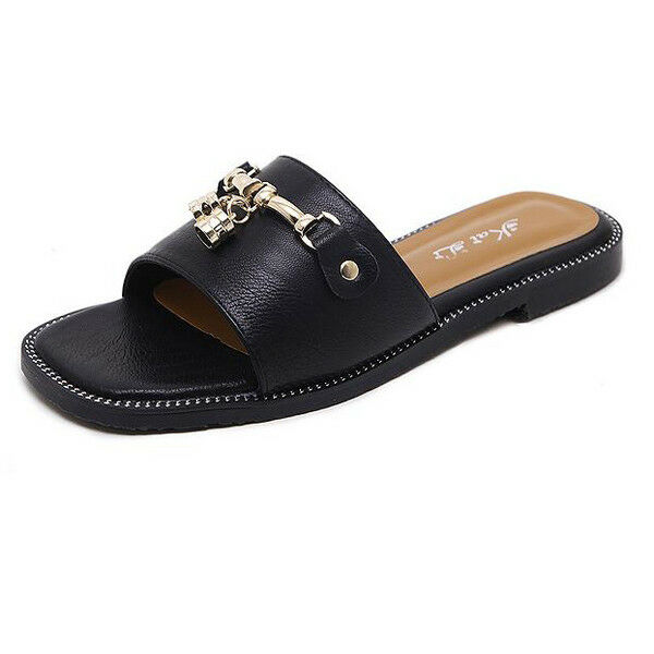 Sandali stiletto eleganti sabot nero fiocco ciabatte simil pelle eleganti. 1077