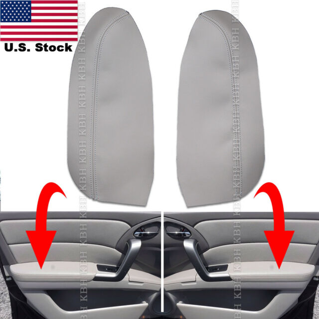2pcs Leather Front Door Panel Armrest Cover Skin For Acura