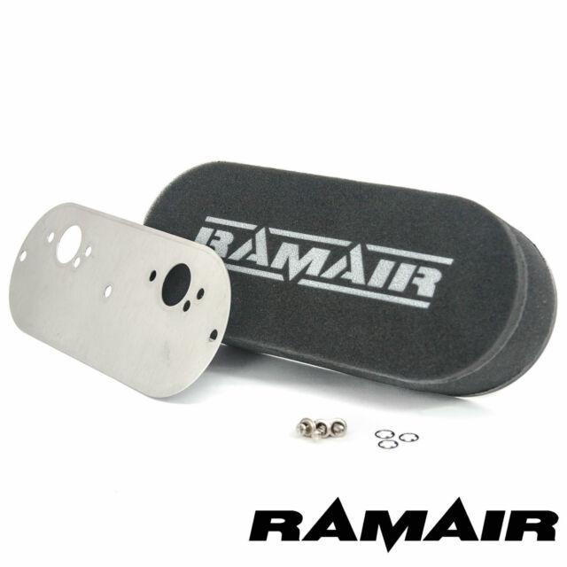 Ramair Carb Doble Aire Filtros con Placa Base Mini 2 X Do HS2 40mm Interno Alta