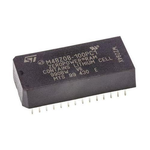 1 x STMicroelectronics M48Z08-100PC1 NVRAM Memory, 64kbit, 100ns, 4.75-5.5V