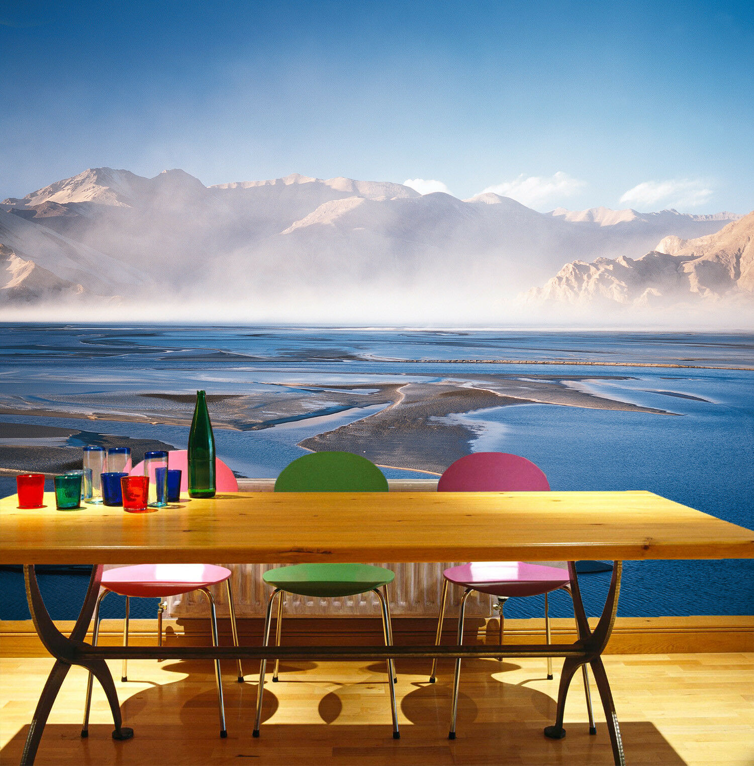 3D Foggy Landscape 562 Wall Paper Wall Print Decal Wall Deco Indoor Mural Summer