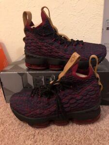 promo code 22a5a 1c78e Nike Lebron XV GS 922811 300 Cleveland Cavaliers flyknit ...