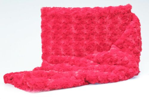 Rose Swirl Textured Plush soft Fabric 50 x 160 cm
