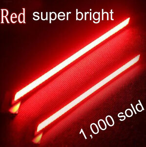 2X-Red-Super-Bright-COB-Car-LED-Light-DRL-Fog-Driving-Lamp-Waterproof-12V-NEW