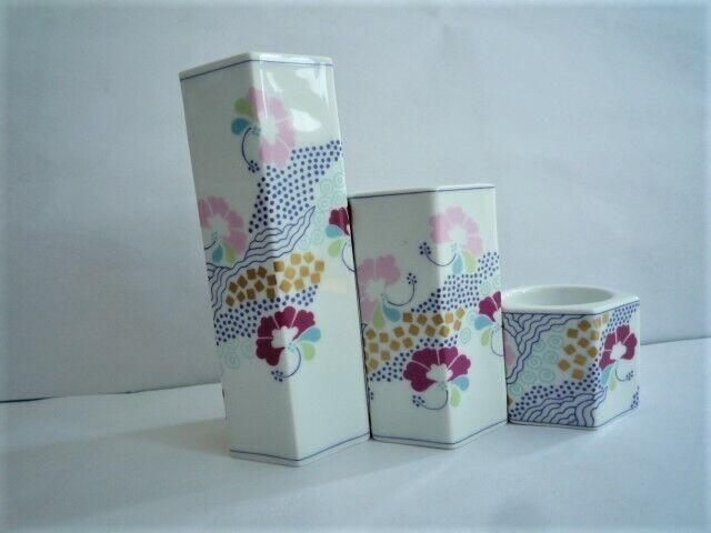 3 portacandele Copenhagen Porcelain BING & GRONDAHL