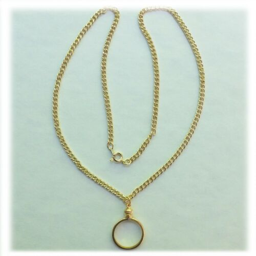 "Coin Holder Necklace Kit Quarter USA 25 Cent 20/"" Gold Plated Chain with Bezel"
