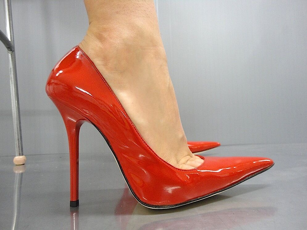 MORI MADE IN ITALY POINTY NEW HIGH HEELS PUMPS SCHUHE LEATHER ORANGE ARANCIO 39