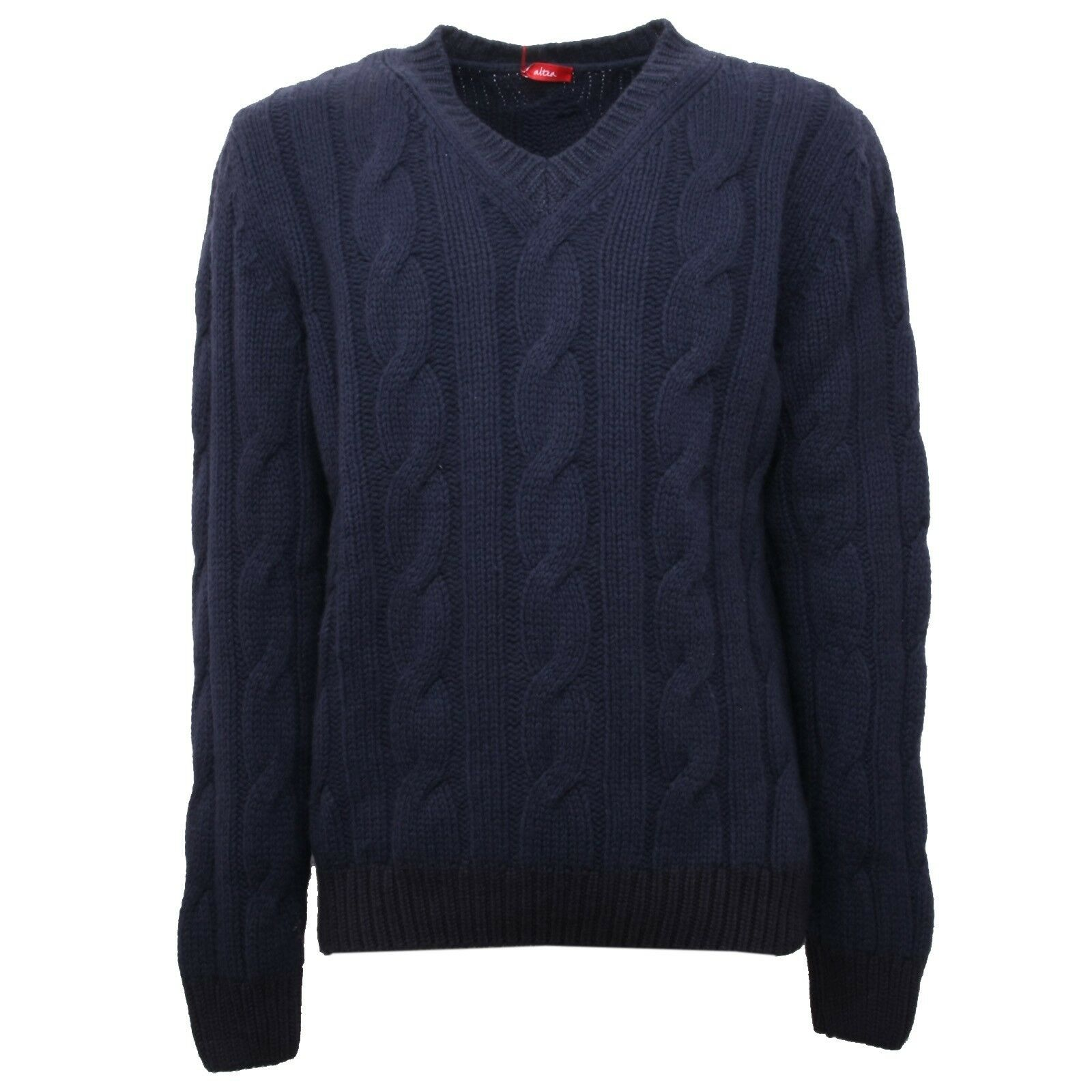B5201 maglione uomo ALTEA lana blu sweater men