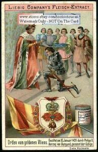 Order-of-the-Golden-Fleece-Orden-Von-Goldenen-Vliess-c1898-Trade-Ad-Card