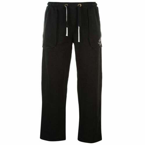 Da Uomo Lonsdale Boxe Pantaloni Della Tuta Sudore Pantaloni Cotone Nuovi