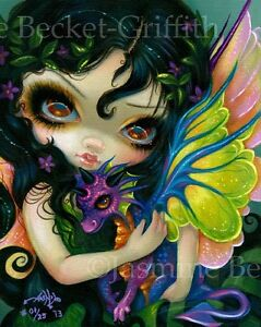 Darling-Dragonling-5-Jasmine-Becket-Griffith-CANVAS-PRINT-dragon-fairy-art-V