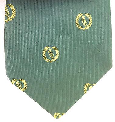 100% Vero Essc Vintage Club Verde Cravatta Macclesfield Twinzine Macaseta Inglese 1970s 1980s-mostra Il Titolo Originale Facile Da Lubrificare