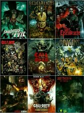 """Unique Set 9 HQ Silk Posters CALL OF DUTY Black Ops Giant Zombies Origins 20×13"""""""