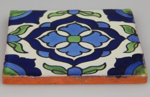 "Mexican Handmade Talavera Clay Tile Folk Art 4x4/""  Handpainted C267"