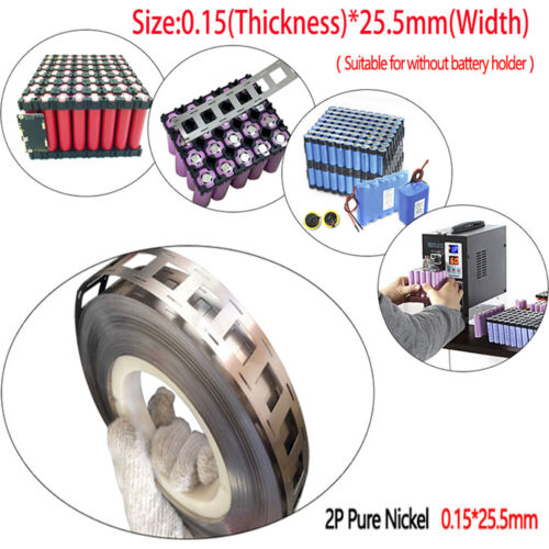 2P Pure Nickel Strip Nickel belt Does not rust Nickel sheets 0.15mm thickness