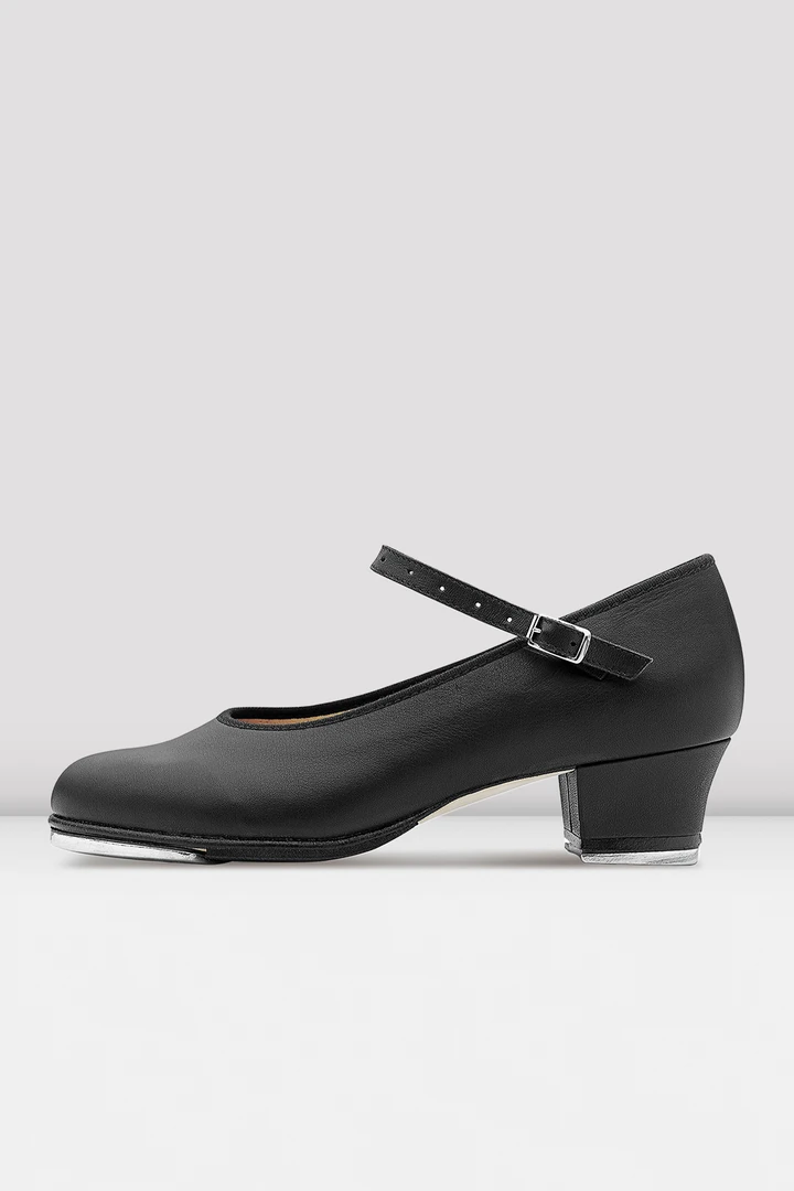 Black Bloch leather Showtapper cuban heel tap shoes - S0323 - all sizes