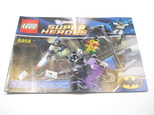 LEGO SUPER HEROES DC COMICS 6858 INSTRUCTION MANUAL NEW CATWOMAN CATCYCLE CHASE