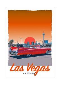 Art Deco Travel Posters Lovely Vintage Retro Holiday Tourism  *Unique* Las Vegas