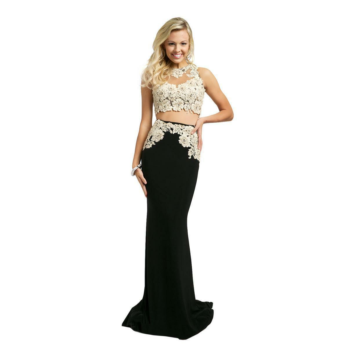 640 NWT TWO PIECE JOVANI PROM PAGEANT FORMAL DRESS GOWN SIZE 6