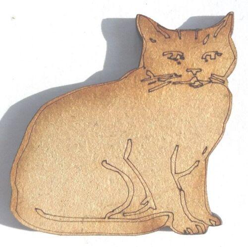 10x en bois Chat Formes Cadeau Art Craft Embellissement Scrapbook carte Plaque Bois