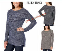 ELLEN TRACY WOMEN'S BOAT NECK MARLED KNIT PULLOVER SWEATER! NWT! #229731