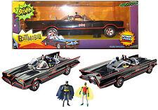 "1966 BATMOBILE 1:18 Batman Classic TV Series EXCL w/ 6"" Figures West Ward Robin"