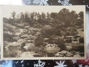 Vintage 1940s Coventry Memorial Park Rock Garden Real Photo Postcard