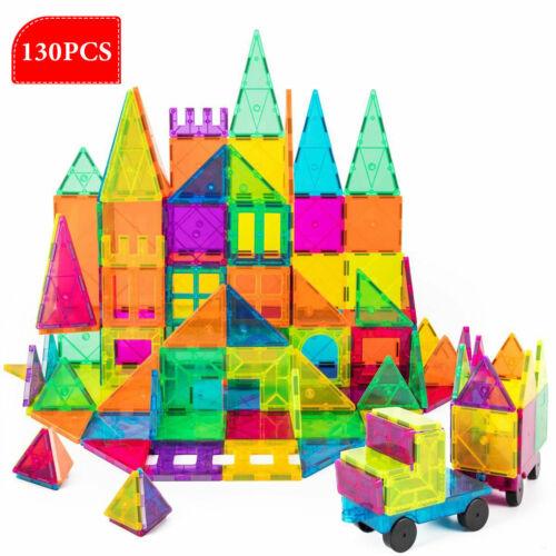 Construction Playboards 130Pc Magnetic Blocks Set 3D Magnet Building Blocks