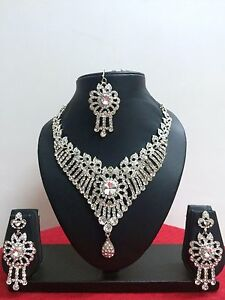 Indian-Bollywood-Ethnic-Fashion-Bridal-Wedding-Jewelry-Necklace-Set-Earrings