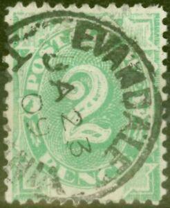 Australia-1902-2d-Emerald-Green-SGD3-Fine-Used