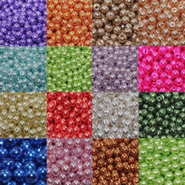 Hobby /& Crafting Fun 8mm Glass Pearls 20pcs